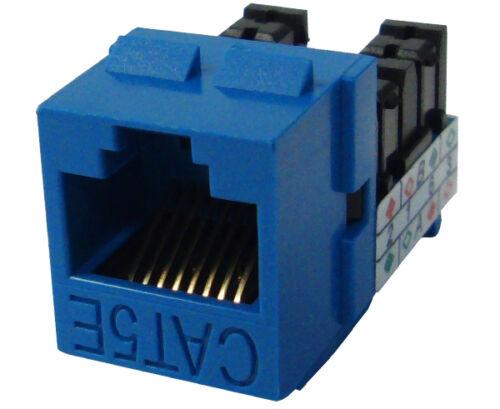 10x CAT 5E Keystone Jack RJ45 Ethernet Network Data Blue K52-154//L90//BL