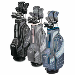 Callaway-Womens-Solaire-Ladies-Complete-Golf-Club-set-11-piece-Full-set-w-Bag