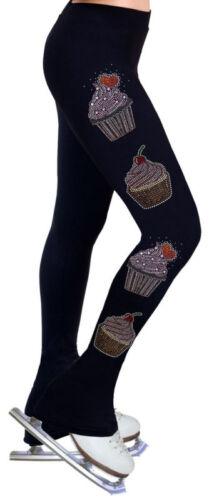 R176 con pattinaggio eleganti strass artistico Pantaloni wvXHZ