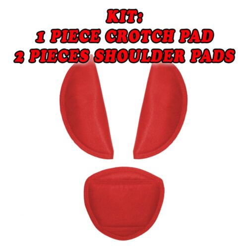 Shoulder Crotch Pads Cover Baby Car Seat Pushchair Belts Straps Harness 3pcs