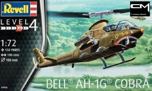 Details about Revell 04956 1:72 Bell AH-1G Cobra Vietnam Era US Combat  Helicopter Model Kit