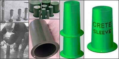 """Pipe Sleeve Concrete Wall Block out 1-1//2/"""" Plastic Hole Forms Crete Sleeve"""