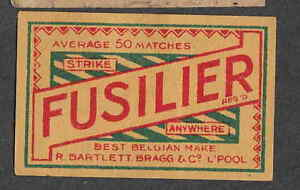 Ancienne étiquette Allumette Belgique Nn35 Fusilier 2 Pm4m87pu-08002339-733366137