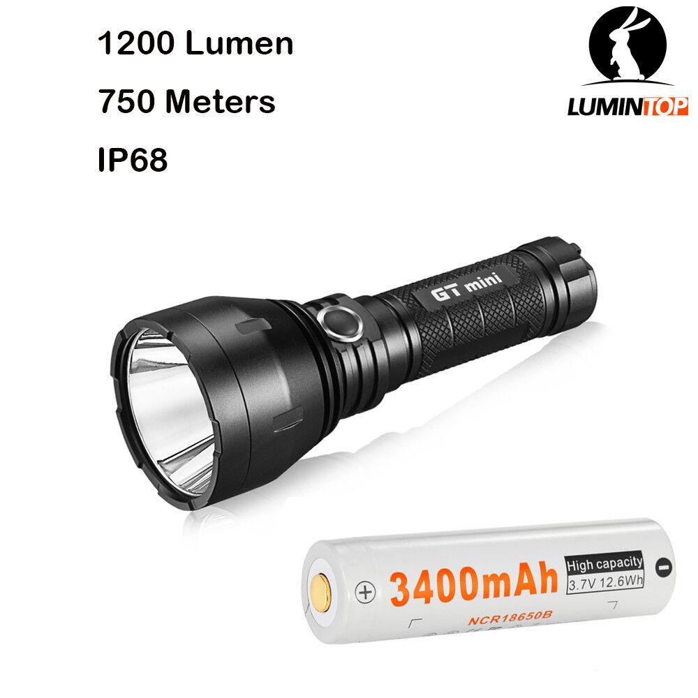 Lumintop GT mini Flashlight Cree XPL 1200 Lumens 750 meters Beam Distance