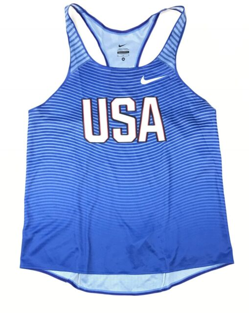 Nike USA Digital Race Day Elite Running Singlet Blue Women  M 835974 USATF  Blue f42e3df06a39