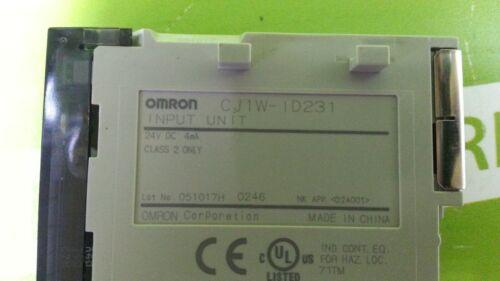 8762 USED OMRON CJ1W-ID231 5set