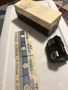 Vintage-Sawyer-039-s-view-master-viewer-case-and-reels-50s-60s-Made-In-USA
