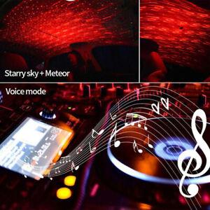 Rouge-DEL-Voiture-USB-ambiance-eclairage-eclairage-interieur-dachbeleuchtung-Decor