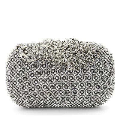 New Crystal Handbag Wedding Ladies Party Prom Diamante Evening Bridal Clutch Bag