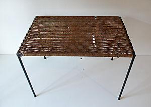 TABLE-BASSE-ROTIN-MATEGOT-DESIGN-ANNEES-50-VINTAGE-LOFT-1950