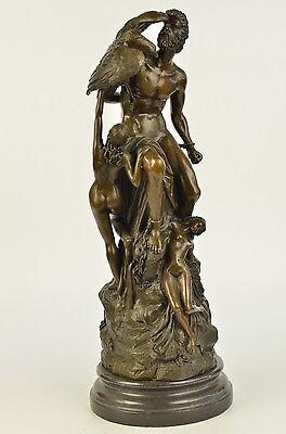 Nude Classical Bronze Zeus Jupiter Greek Roman Gods Decor Statue Sculpture Art
