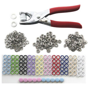 Sets-Fasteners-Press-Studs-Snap-Poppers-Buckle-Plier-Buttons-Kit-Round-Craft