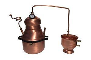 Alambicco Distillatore 10 Litri Modello A Serpentina - Bagnomaria