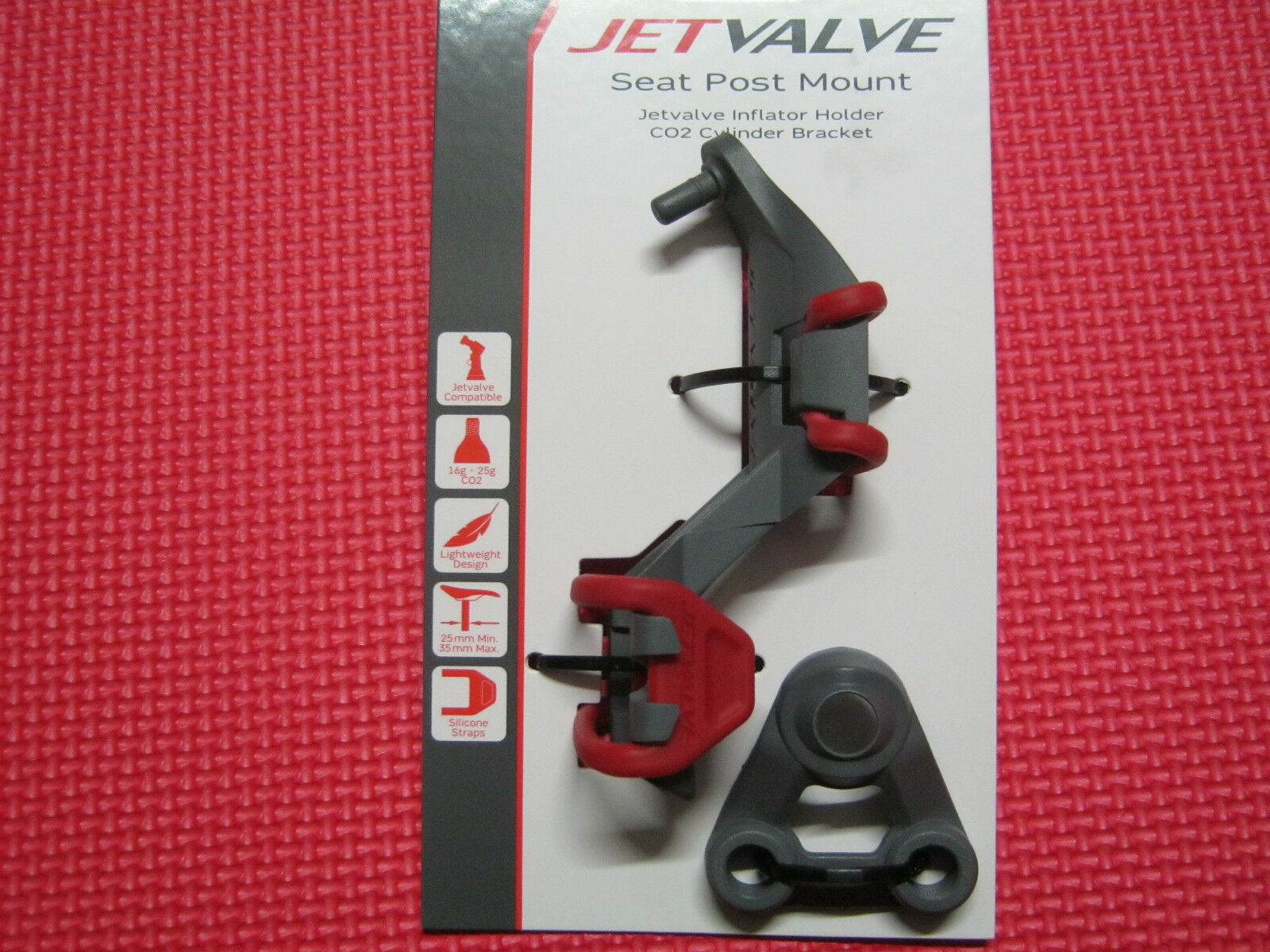 Jetvalve Smart System Seat Post Mount Pump Head Silicone straps CO2 cylinders