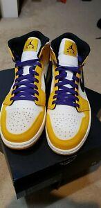 1327e488d909 NEW DS 2019 Nike Air Jordan 1 Mid SE Lakers 852542-700 University ...