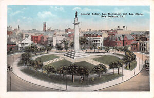 R268728 General Robert Lee Monument and Lee Circle. New Orleans. La. E. C. Kropp