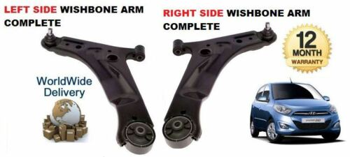 FOR HYUNDAI i10 2008-/> 2x LOWER LEFT /& RIGHT SUSPENSION WISHBONE ARM  BALL JOINT