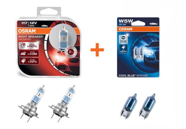 OSRAM LED Optik Paket NightBreaker H7 Abblendlicht + CoolBlue W5WL Standlicht