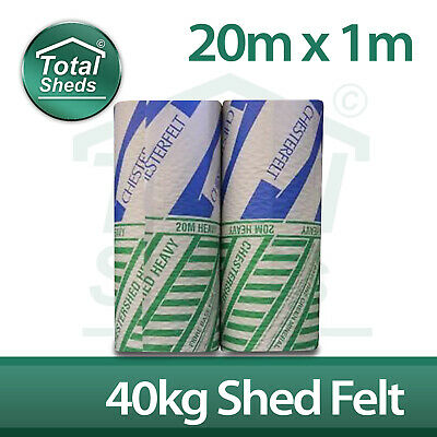 *SPECIAL OFFER* Chestersfelt Heavy Roofing Felt 20m x 1m Green Mineral