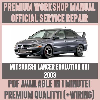 Guia De Reparacion Taller Manual De Servicio Y Para Mitsubishi Lancer Evolution Viii 2003 Ebay