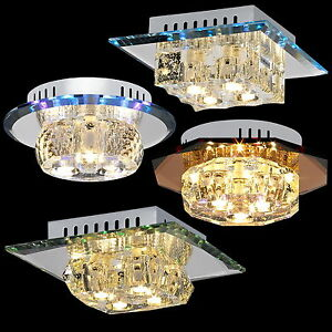 deckenlampe wandlampe deckenleuchte wandleuchte farbwechsel led lampe glas b w ebay. Black Bedroom Furniture Sets. Home Design Ideas