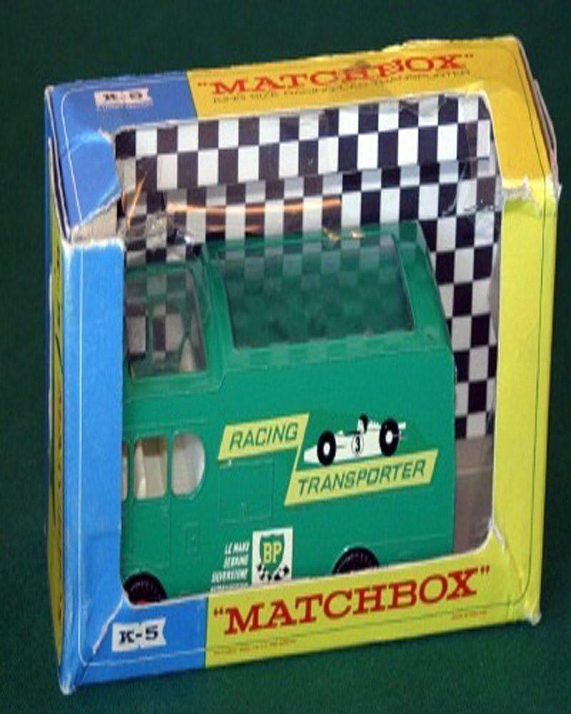 Matchbox k 5 rennwagen transporter (beschädigt - box)