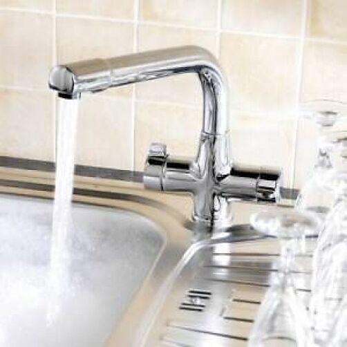 Mono Küchenspüle Mischbatterie Wasserhahn - Easy viertel 1 4 Chrom auf Messing