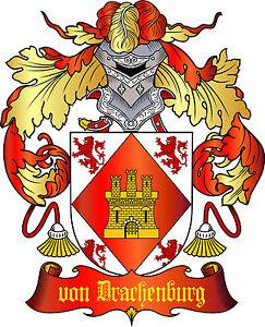 ADELSTITEL-GRAF-von-DRACHENBURG-Fuerst-Baron-Herzog-Freiherr-Urkunde