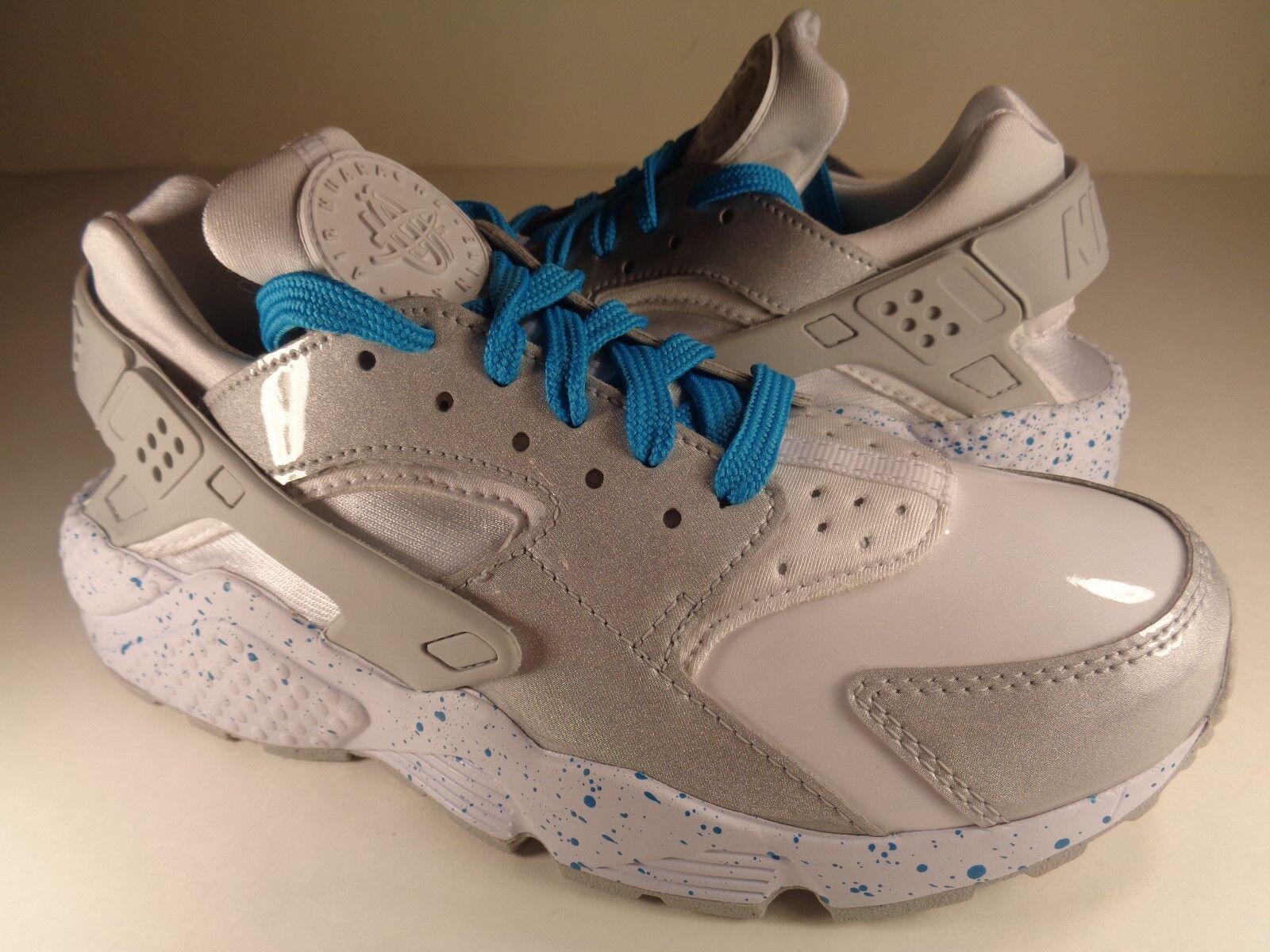 Womens Nike Air Huarache Run iD Aqua Grey White Gloss SZ 6.5 (871141-993)