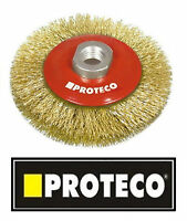 100mm Rotary Steel Wire Brush Crimp Bevel wheel cup Angle Grinder M14 PROTECO