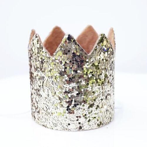 Gold Glitter Sparkles Birthday Boy or Girl Hat Party Crown Toddler Smash Cake