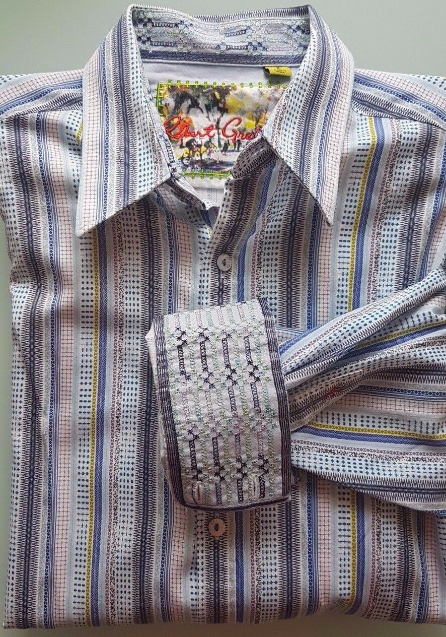 Robert Graham Men's Large Dress Shirt - Gorgeous Pattern