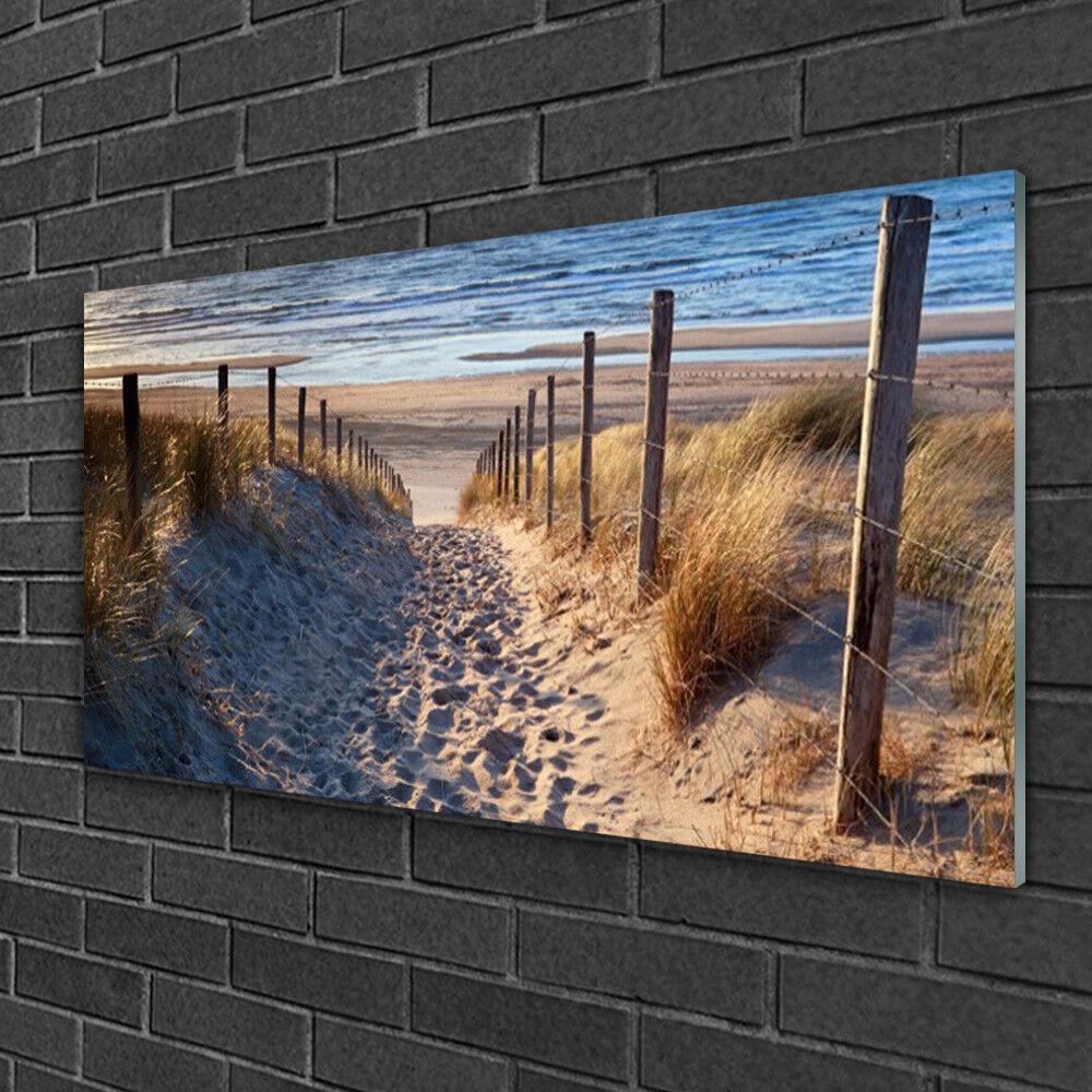 Tableau sur verre Image Impression 100x50 Paysage Mer Sentier
