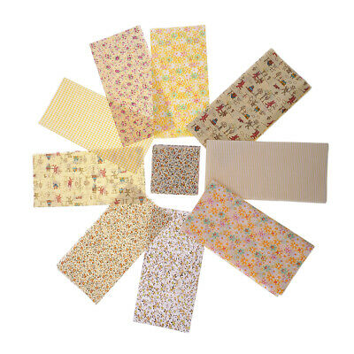10 Fat Quarters Bundle ORANGES Polycotton Fabric Offcuts Scraps Remnants