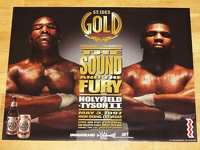 Mike Tyson vs.Evander Holyfield II Poster Pc Ides Beer Mint 1997 Vintage