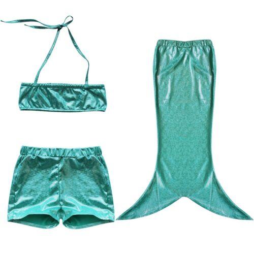 UK Girls Kids Baby Mermaid Tail Swimwear Mermaid Swimming Fancy Costume Swimsuit