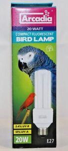 Arcadia-Bird-Lamp-Kompakt-Compact-FLuorescent-20W-E27-Angebot-UV-B