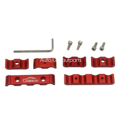 Red 24x Spark Plug Wires Separator Engine Cable Divider 8mm 9mm 10mm Aluminum