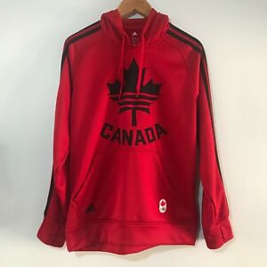 Details about ADIDAS Men's TEAM CANADA Olympic Games Hoodie Sweater Climawarm Size M