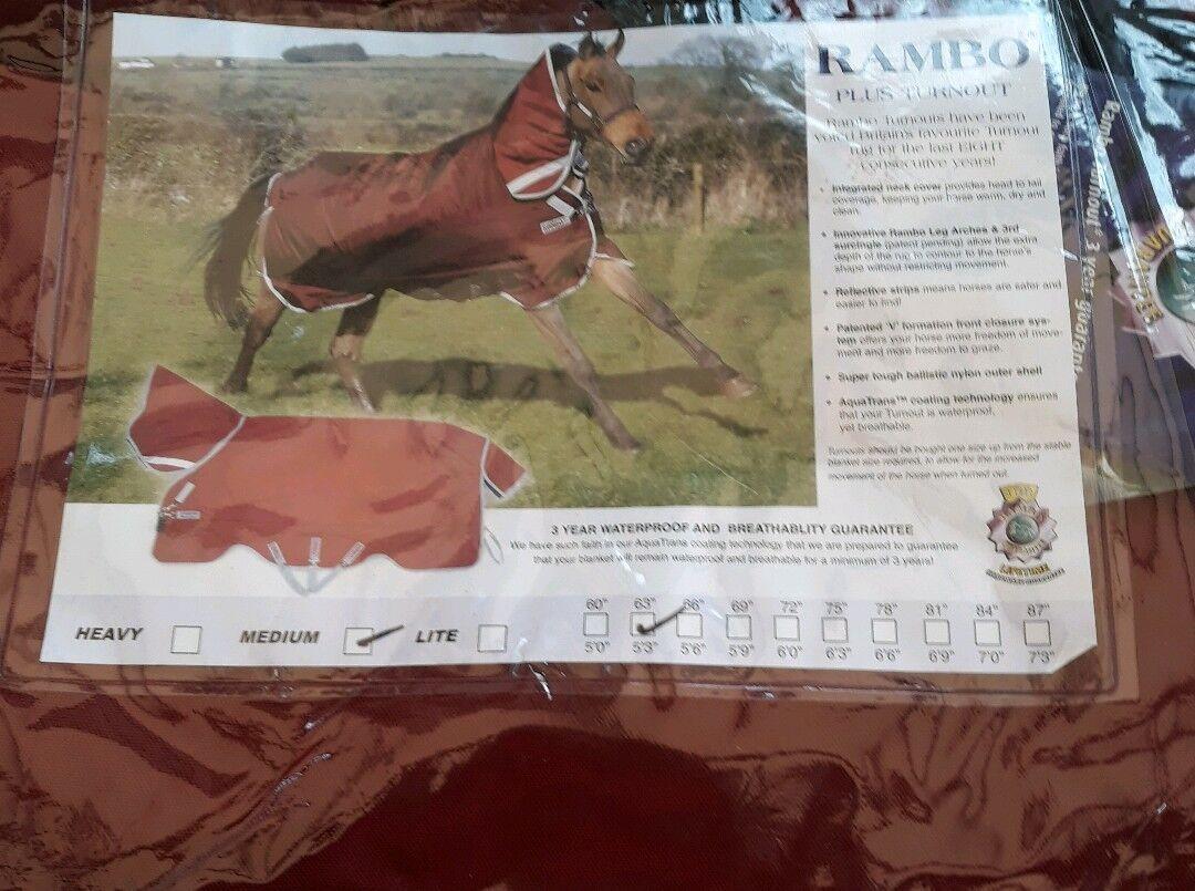 Nuevo Horseware lrlanda Rambo Plus participación Alfombra RRP    3 Ganga