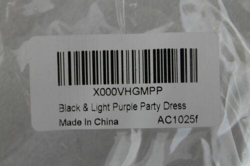 Bella festa abito bambole lilla nero lunghezza 30 cm di lunghezza
