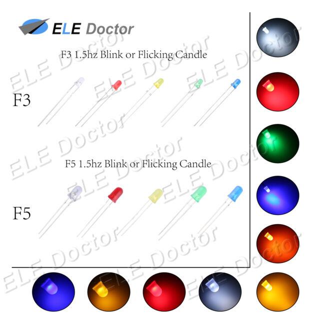 S1101-50 Stück Blink LEDs 5mm blau diffus 1Hz selbst blinkend Blinklicht