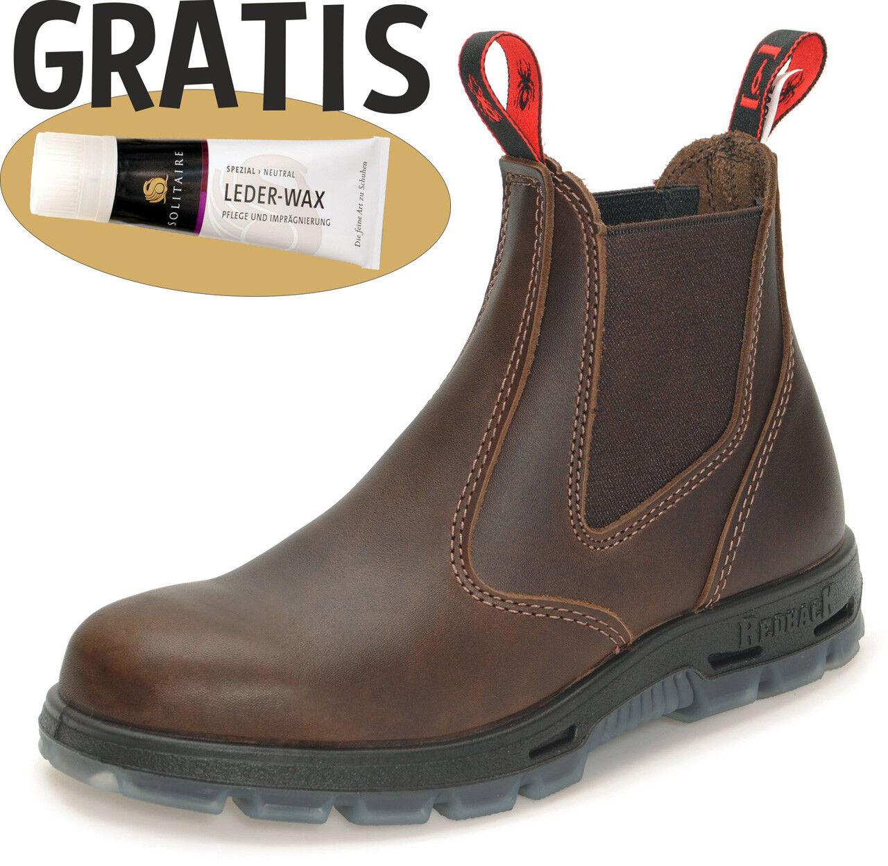Redback Work Boots Arbeitsschuhe Leder Stiefel Reiten UBJK jarrah-brown + Zugabe