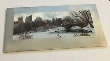 Central Park Winter Scene New York USA Souvenir Fridge Magnet