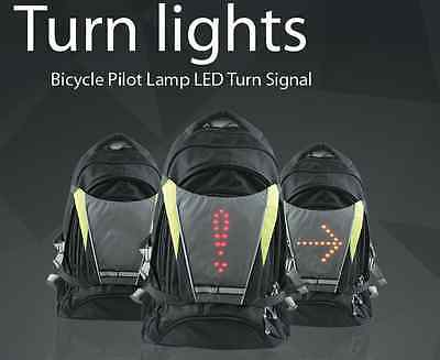 New LED Bike Signals High Visibility Safety Lights Bicycle Turn Indicators
