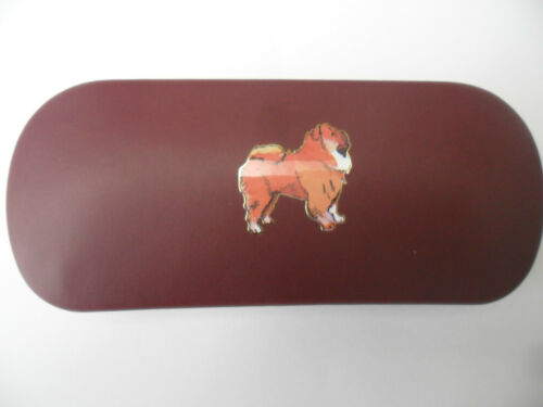 Christmas CHOW CHOW  DOG brand new metal glasses case great gift!