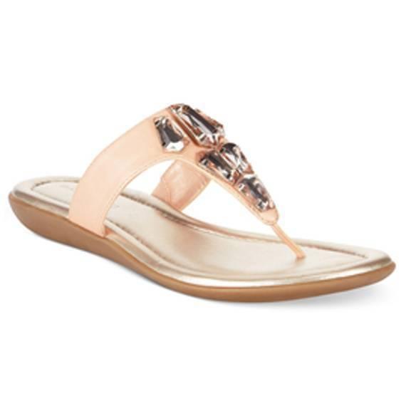 New Thong Bandolino Jesane Women's Pink Thong New Sandal Size 7.5M 6a2471