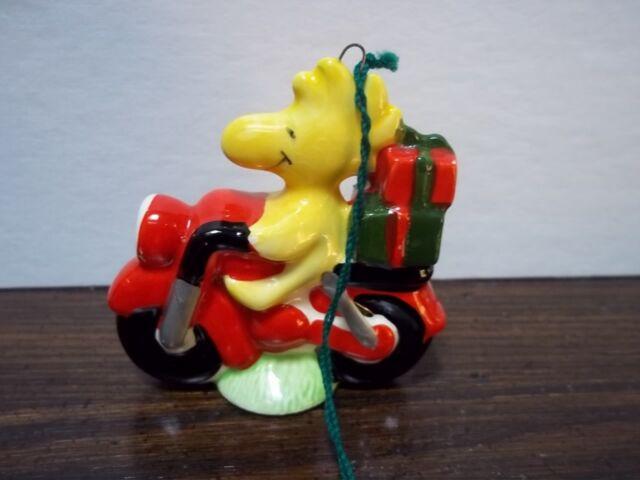 Vintage Snoopy Woodstock On Motorcycle Ceramic