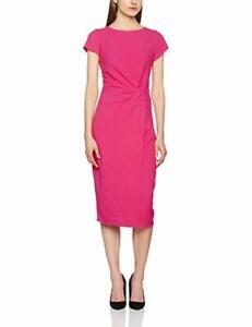 Lily-amp-Franc-Magenta-Manipulated-Dress-Short-Sleeves-Ladies-Women-UK-Size-10