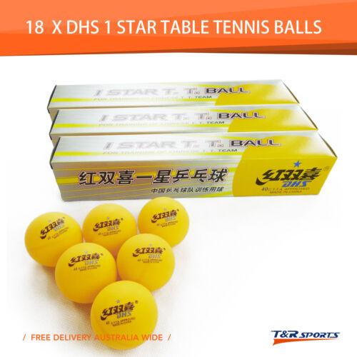 18x DHS 1 Star 40mm Table Tennis Ping Pong Balls Orange Training Ball Free Post